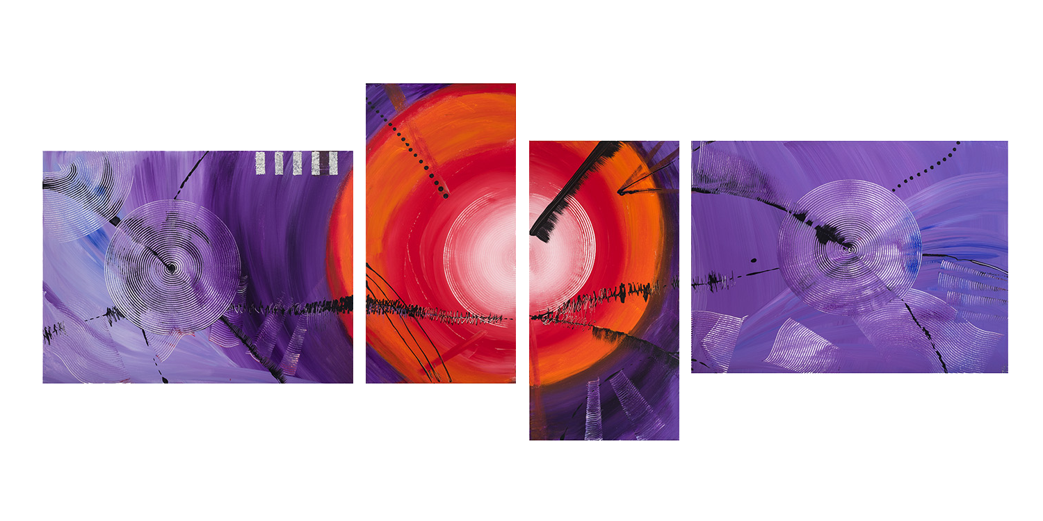 Black Sun Horizon - Music in my Brain painting
